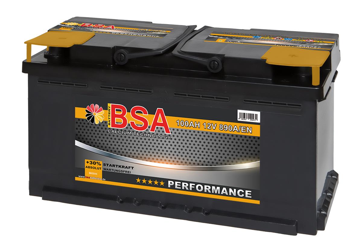 bsa autobatterie 100ah 30 mehr startkraft ersetzt 88ah. Black Bedroom Furniture Sets. Home Design Ideas