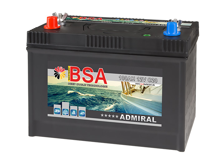 bsa bootsbatterie 100ah 12v batterie boote. Black Bedroom Furniture Sets. Home Design Ideas