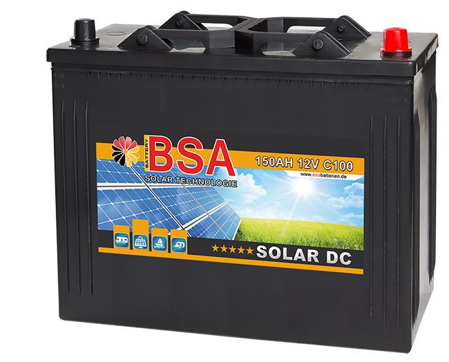 bsa solarbatterie 12v 150ah solar antrieb marine. Black Bedroom Furniture Sets. Home Design Ideas