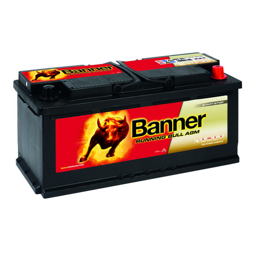 banner running bull agm autobatterie 12v 105ah ersetzt. Black Bedroom Furniture Sets. Home Design Ideas