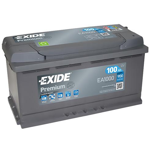 exide autobatterie 100ah 12v premium carbon boost ea1000. Black Bedroom Furniture Sets. Home Design Ideas