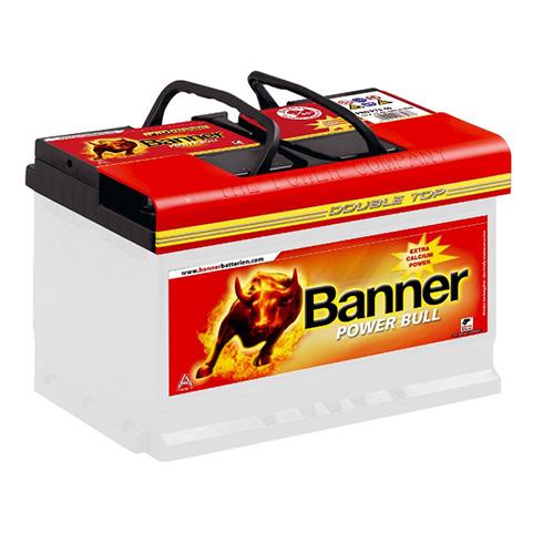 banner autobatterie power bull 77ah 12v pro p7740 pkw. Black Bedroom Furniture Sets. Home Design Ideas