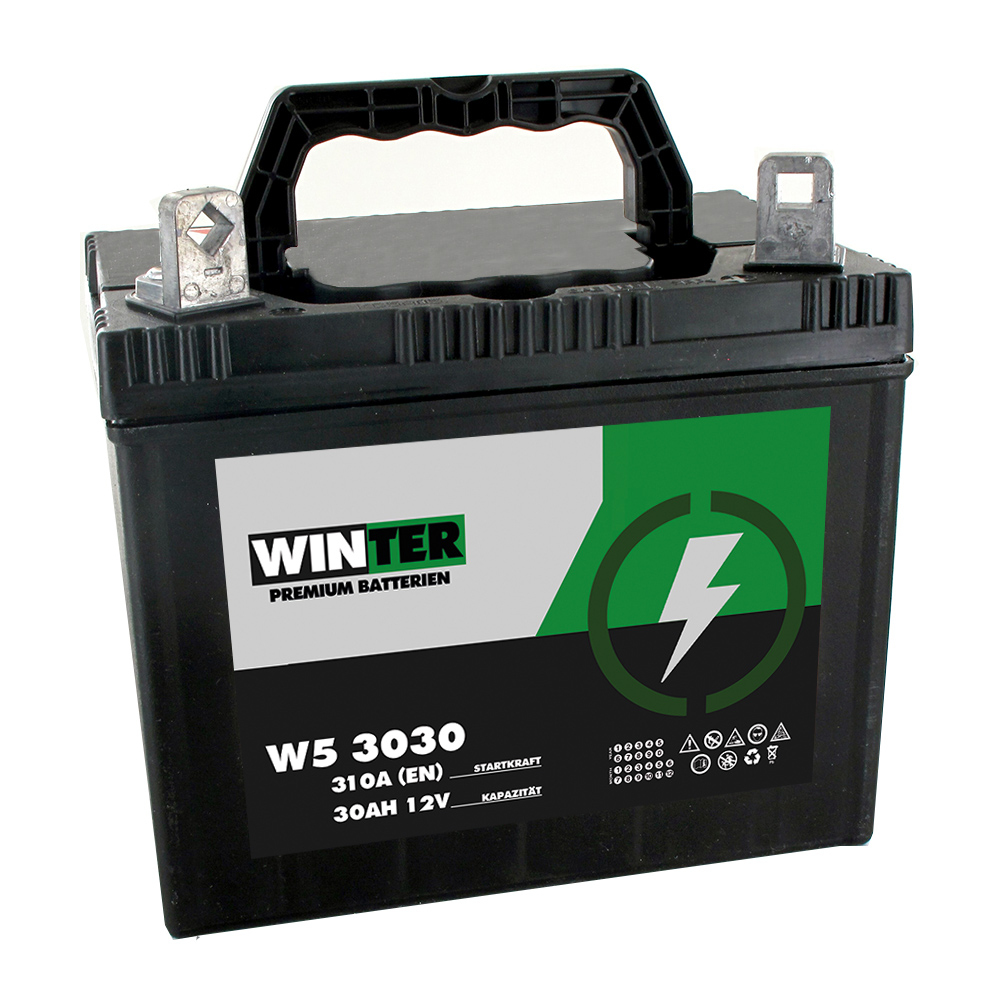 Pol Rechts Rasentraktor Aufsitzmäher Batterie 30Ah Starterbatterie wartungsfrei