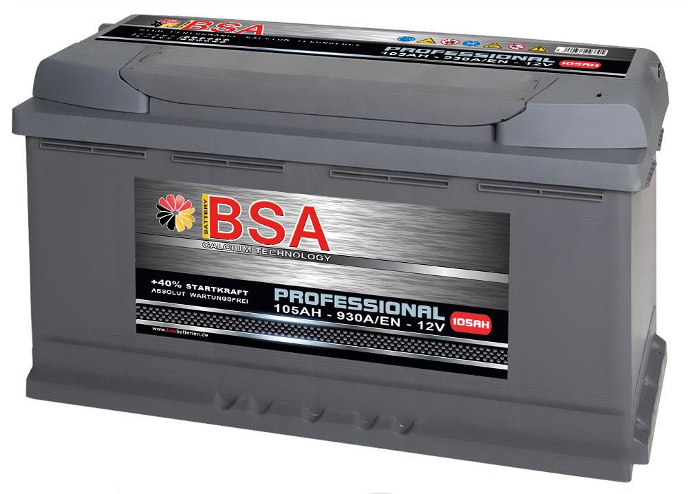 bsa autobatterie 105ah 12v extrem leistungsstark 930a en. Black Bedroom Furniture Sets. Home Design Ideas